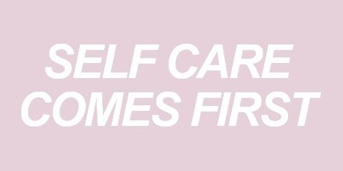 You are allowed to care for yourself before others. <3