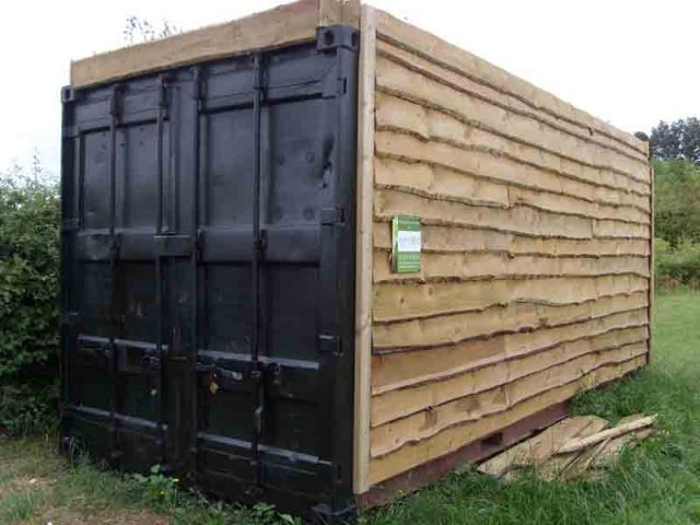 Shipping container as a garage/shed anyone have one or know anyone who has ?