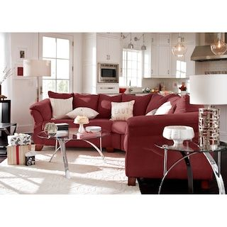 Stupendous The Adrian Sectional Collection Red In 2019 Living Room Short Links Chair Design For Home Short Linksinfo