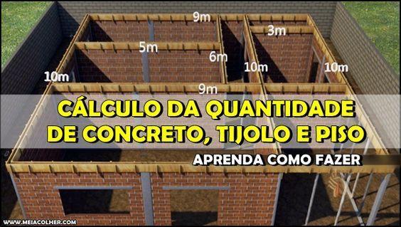 Aprenda como CALCULAR a quantidade de Concreto, Tijolos e Pisos na construção!                    Meia Colher