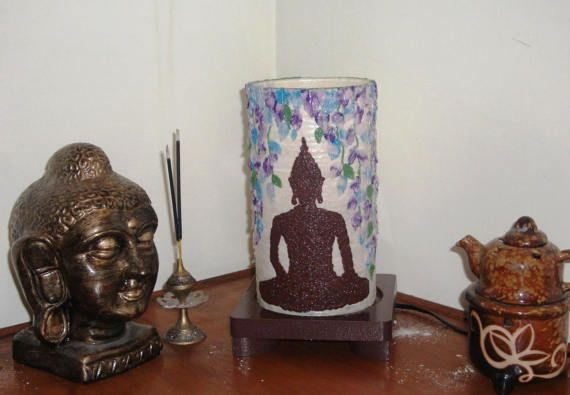 Meditating Buddha Lamp by Aartico on Etsy