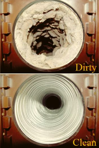 Learn how to clean your dryer duct, prevent house fires and save $$$. REVIEW: I'm not sure who tees people with the dirty vents are but after 4 years in our house, ours was nothing like this!! Not hard to do and I did learn our dryer vent was pinched behind the unit so we trimmed it off and potentially avoided a fire