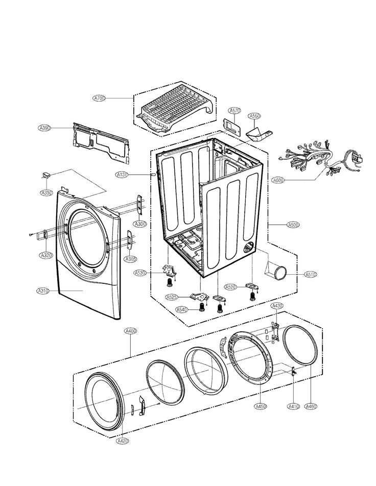 LG DRYER ELECTRIC/GAS Parts | Model DLE5955W | Sears PartsDirect