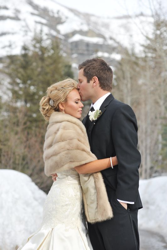 Rebekah Westover Photography: Tessa + Paul. Wedding. Love the fur!