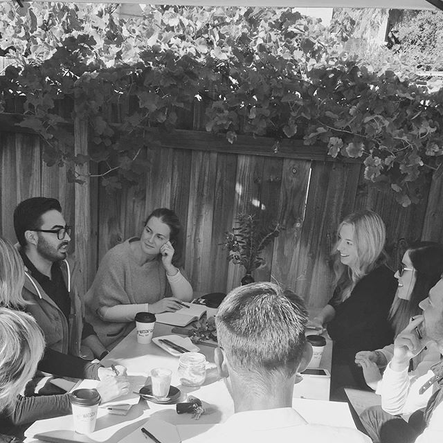 Style Direction brain storming.  Pleased to welcome Clare Ryan to the team as our new Style Editor . How lucky are we to have Miss Watsons Garden as our meeting room.