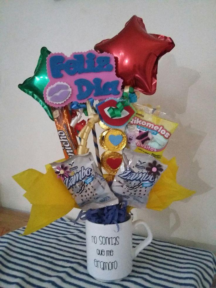 10 best detalles con dulces images on pinterest el amor - Dulces de san valentin ...