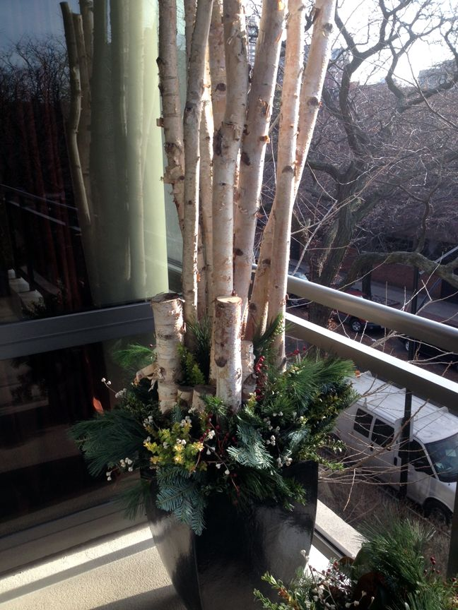 17 best images about birch poles on pinterest planters for Artificial logs for decoration