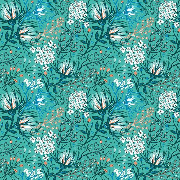 Floral fantasy pattern. by Anna Aniskina, via Behance