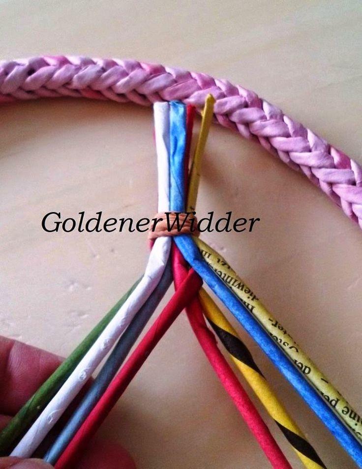 Плетение из газетных трубочек: Колосок, ручка, декоративный элемент.