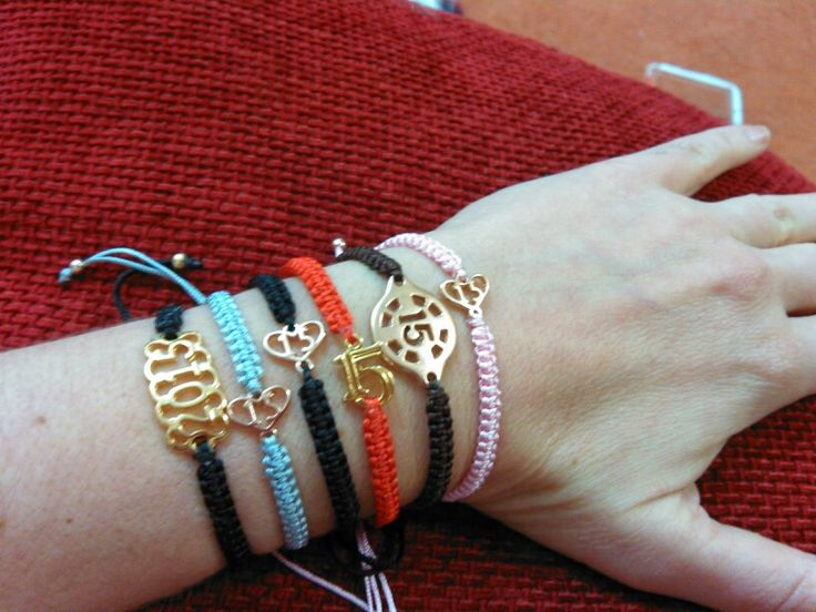 Macrame bracelets for the new year.
