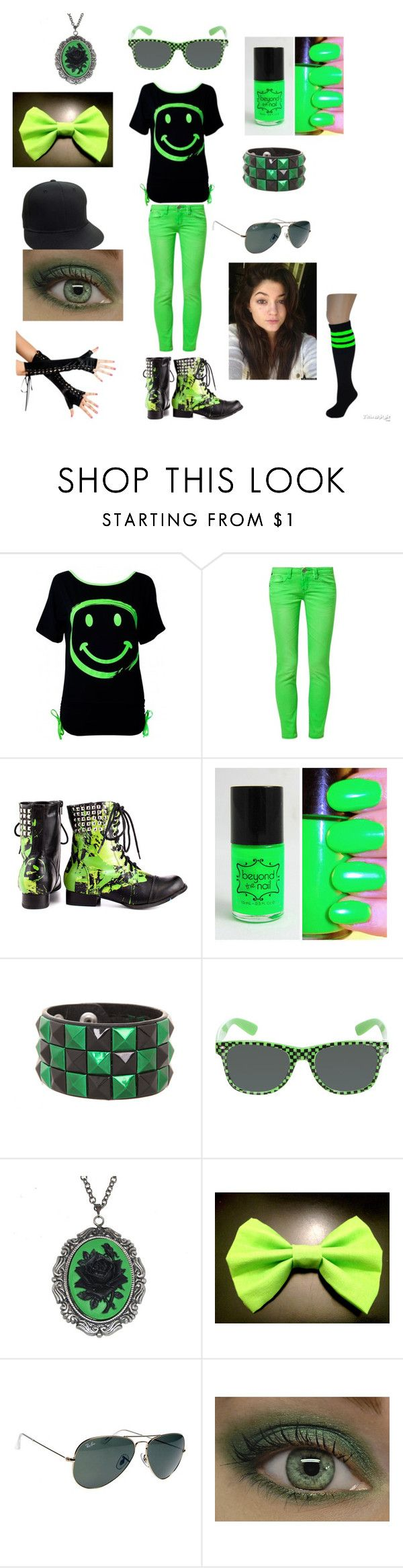 """""""Untitled #38"""" by renityraemc ❤ liked on Polyvore featuring One Green Elephant, Abbey Dawn and Ray-Ban"""