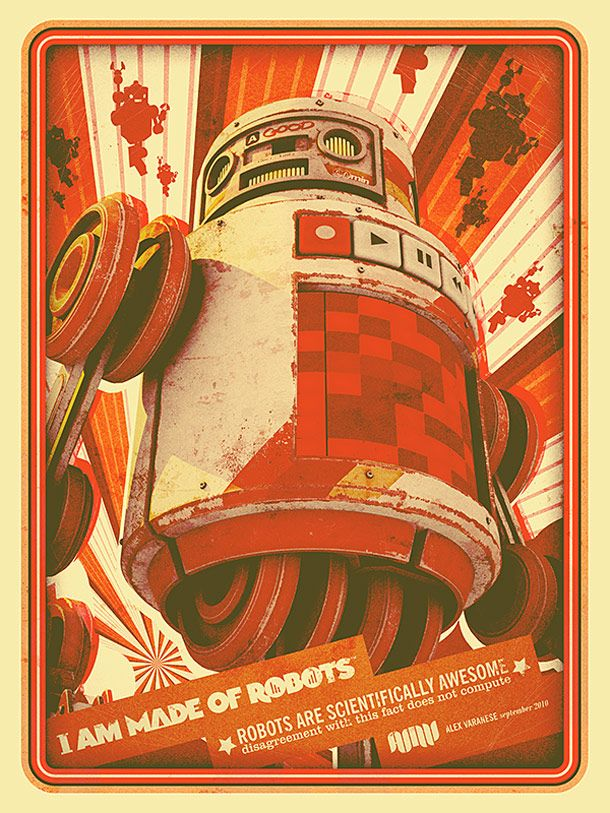 "vintage robots | made ??of Robots "", a series of posters based on cool vintage robots ..."