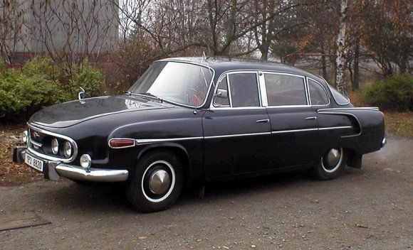 The Czech Tatra T603.  Tatra was famous for durable trucks and also cars (mostly for the 'communist' aparatchik).  Czechoslovakia was the only European 'communist' country to be allowed some industrial creativity behind the Iron Curtain.  Hans Ledwinka was the force behind the cars produced.