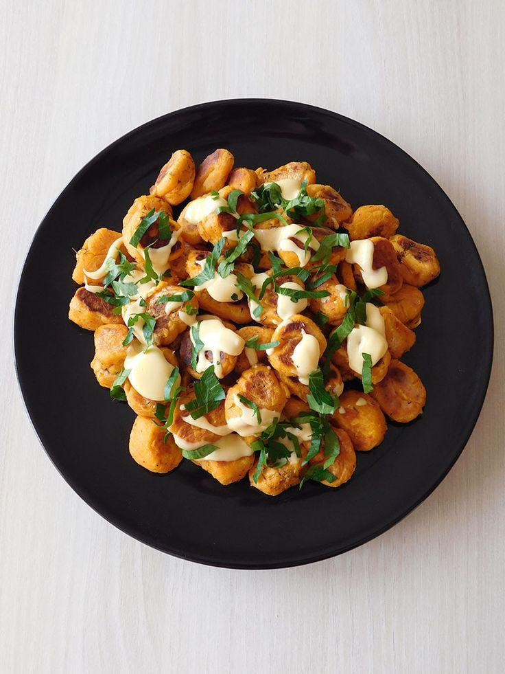Gnocchis de patate douce et crème de cheddar