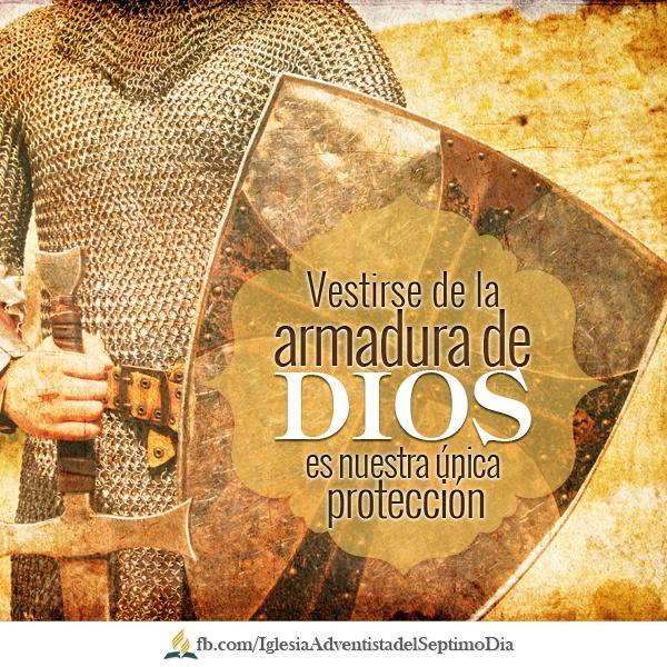 """""""Armarse"""" para la victoria (Escuela Sabática)    Por lo tanto, pónganse toda la armadura de Dios, para que cuando llegue el día malo puedan resistir hasta el fin con firmeza. Efesios 6:13    El enemigo NO puede quitar de Cristo a ninguno que esté decidido a mantenerse fiel al Señor."""