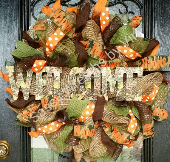 This is a great wreath for an outdoor loving home/lake house/cabin! It is also a great man gift as well or a gift to your husband for his