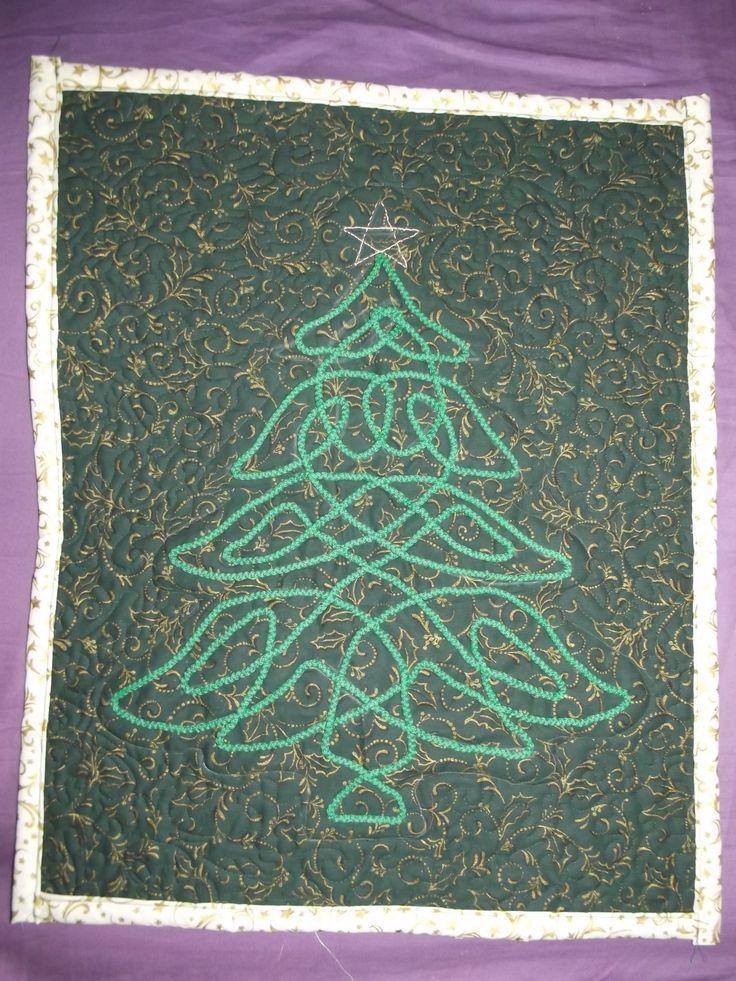 karácsonyfa - kelta technikával - ~5 m zsinórból