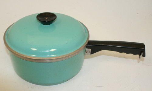 Vintage 1950 S 60 S Heavy Aluminum Club Cookware Pan W Lid