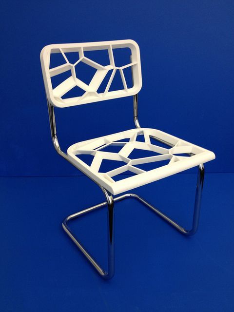 Chris Hardy's Cesca Chair Interpretation by Shapeways - chair made using 3d print technology