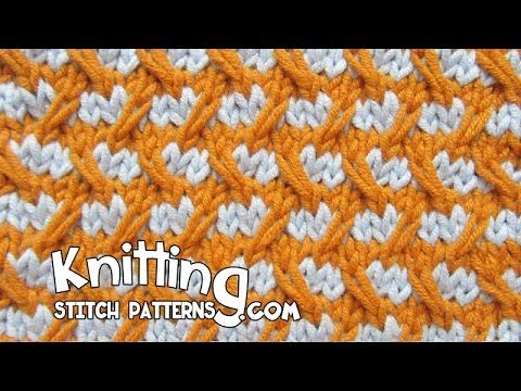 Two-Colour Diagonal Weave | Knitting Stitch Patterns
