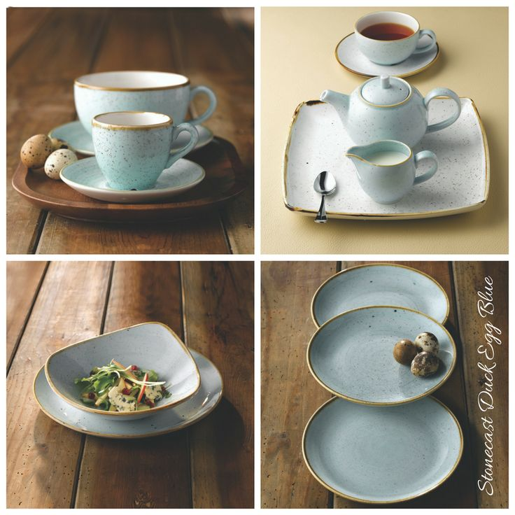 Churchill 1795 China Super Vitrified Stonecast Duck Egg Blue Tableware Collection