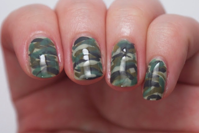 Legally Nailed: ABTM inspired Camouflage nail art
