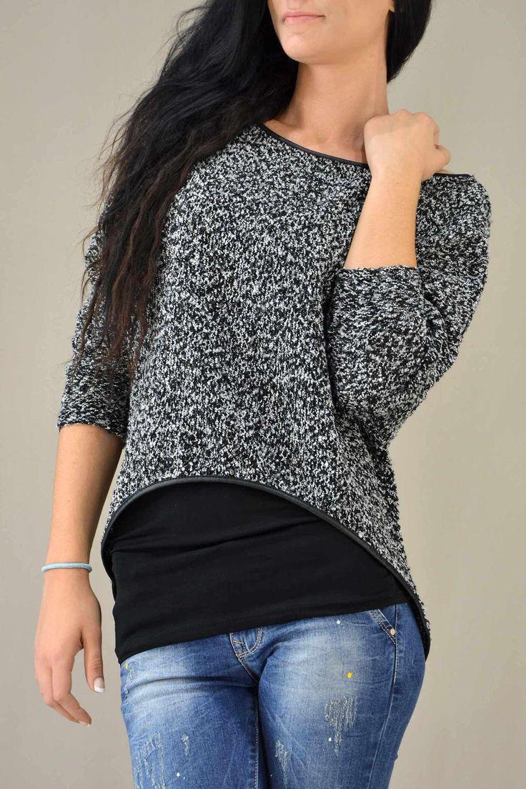 Γυναικεία μπλούζα διπλή  MPLU-0786-wh  Μπλούζες > Μπλούζες και πουκάμισα
