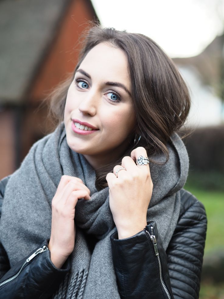 Style Diary - Autumn in Denmark. Leather Jacket and Grey Scarf. --> Click through to the blog to read 10 random facts about me!