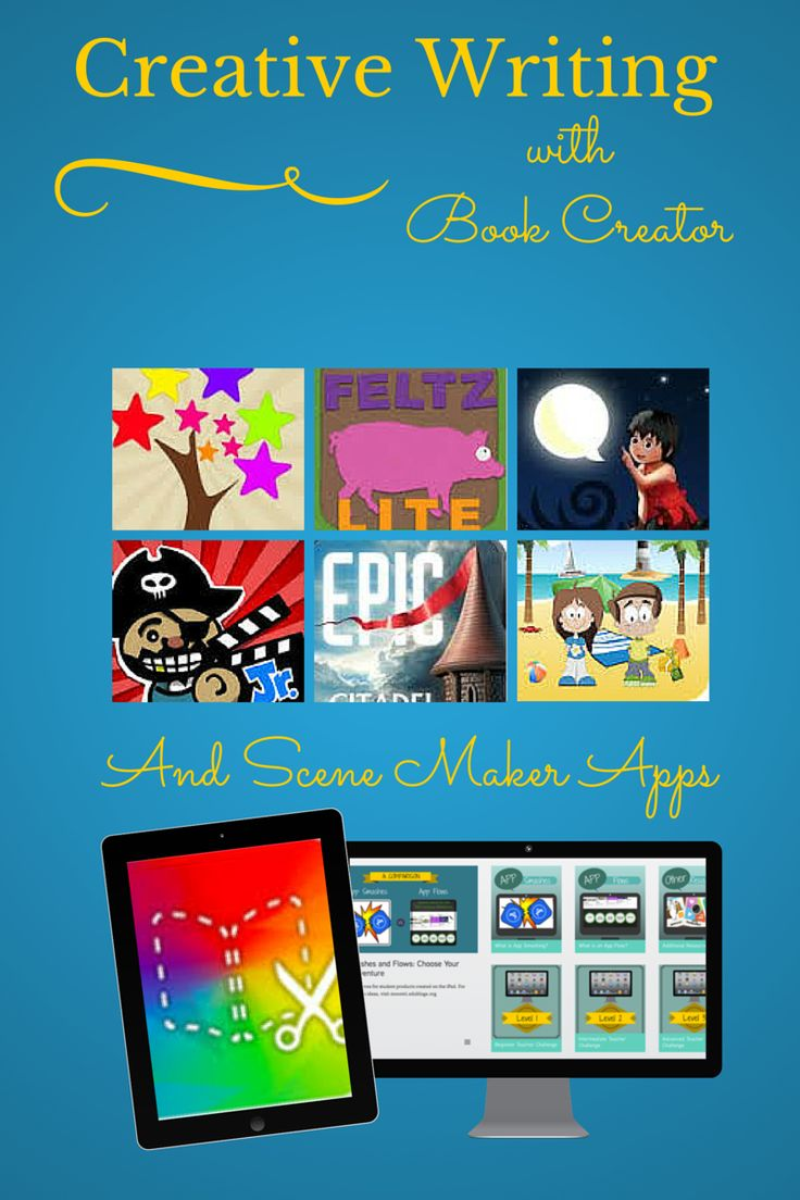 TOUCH this image: Creative Writing with Book Creator and Scene Maker Apps by Laura Moore