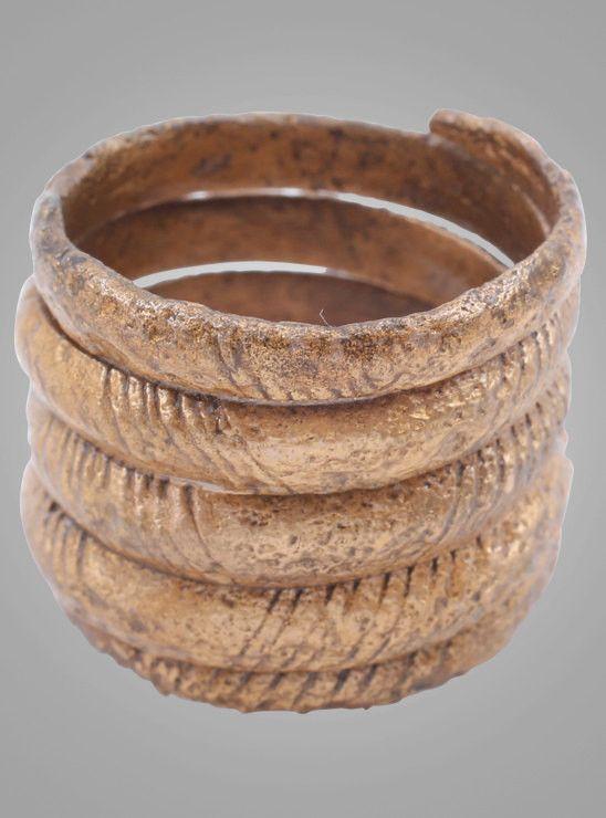 Ancient Viking Mans Coil Ring C.866-1067A.D. Size 10 1/2 (20mm) Antique Vintage Band (Brr813)