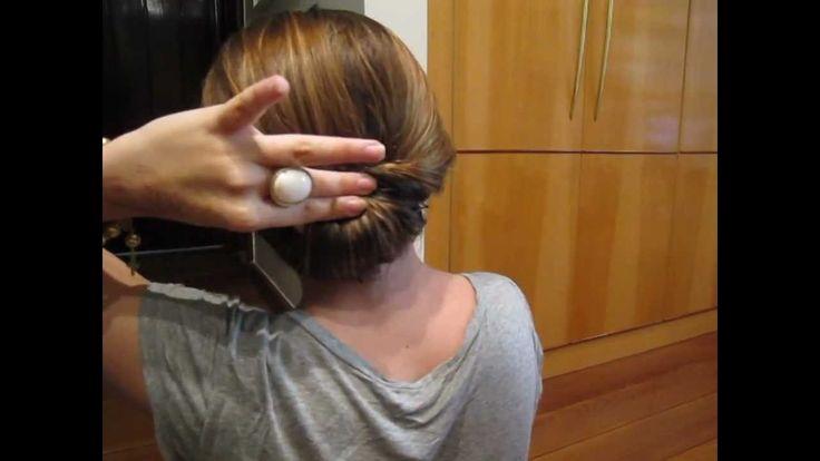 Penteado Coque Invertido - cabelo médio / longo
