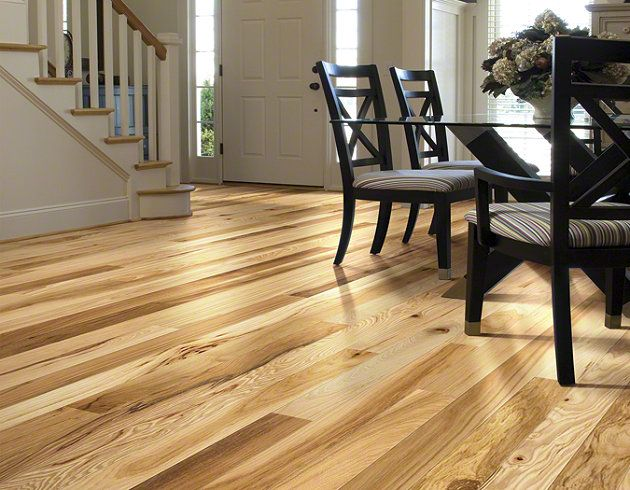 Hardwood Lucky Day 325 SW478 Rustic Natural Hickory Flooring By Shaw New House