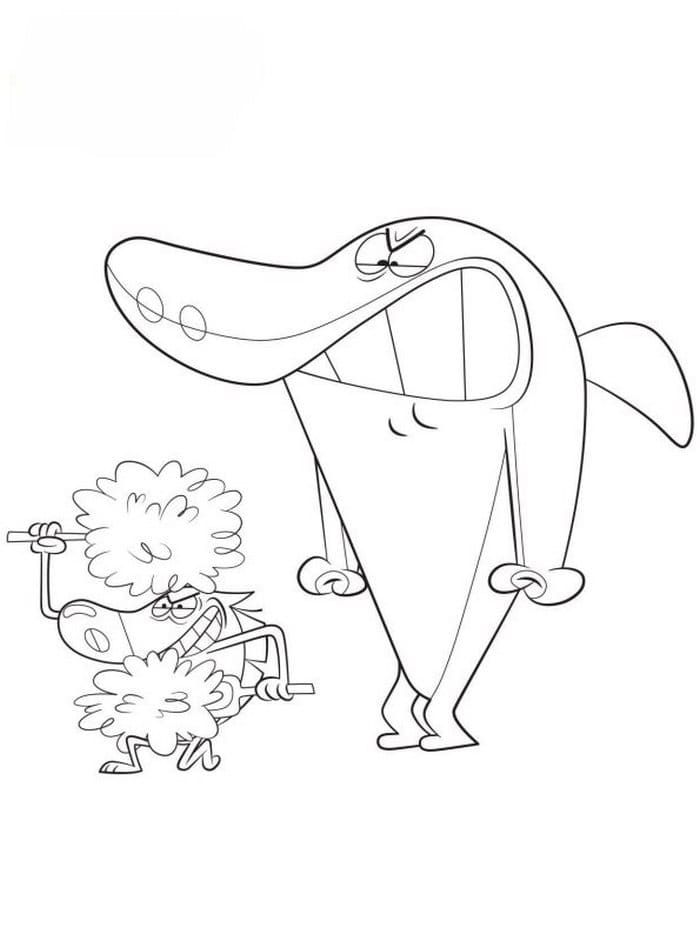 Zig And Sharko Coloring Pages Hyena Shark Mermaid Marina Free Nemo Coloring Pages Coloring Pages Shark Mermaid