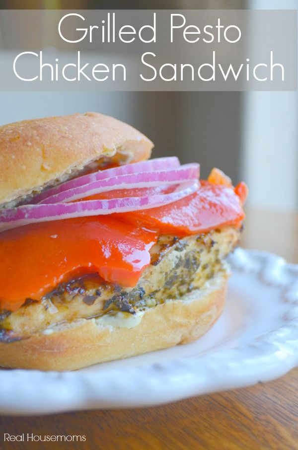 Grilled Pesto Chicken Sandwich_Real Housemoms