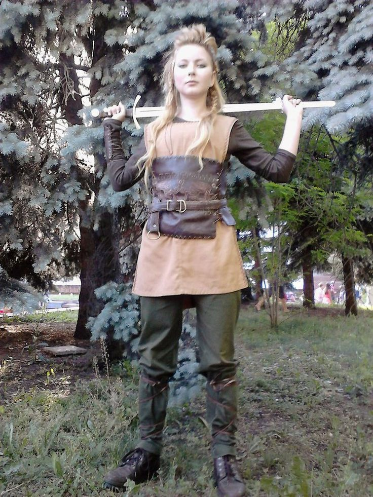 Viking shield maiden costume inspiration at Kyiv Comic Con 2015