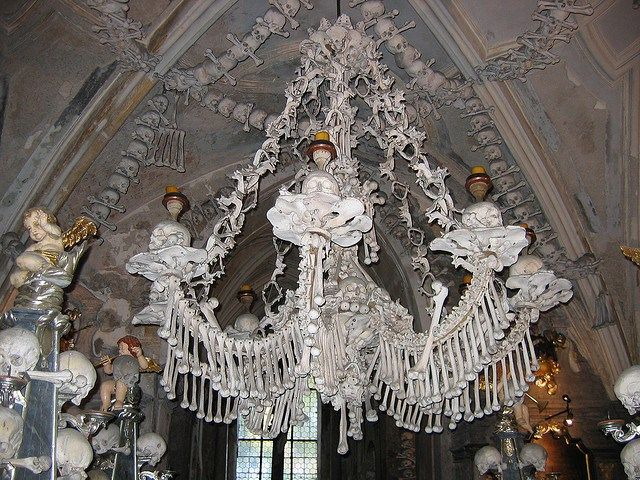Situated in the town of Kutna Hora, Czech Republic, The Sedlec Ossuary is otherwiseknown as the The Church of Bones.