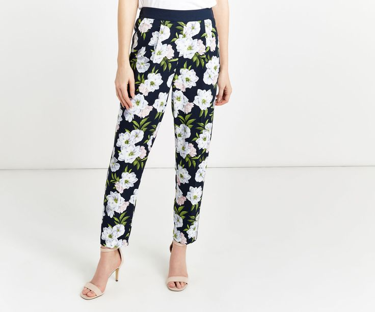 Oasis, WILD FLORAL TROUSER Multi