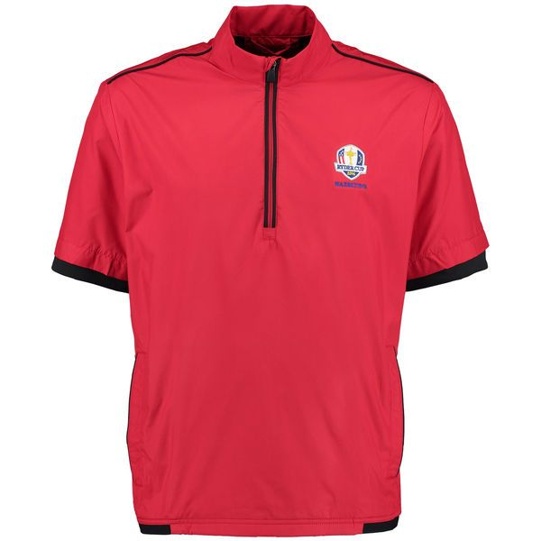 adidas 2016 Ryder Cup climastorm Stretch Short Sleeve Wind Jacket - Red - $71.99