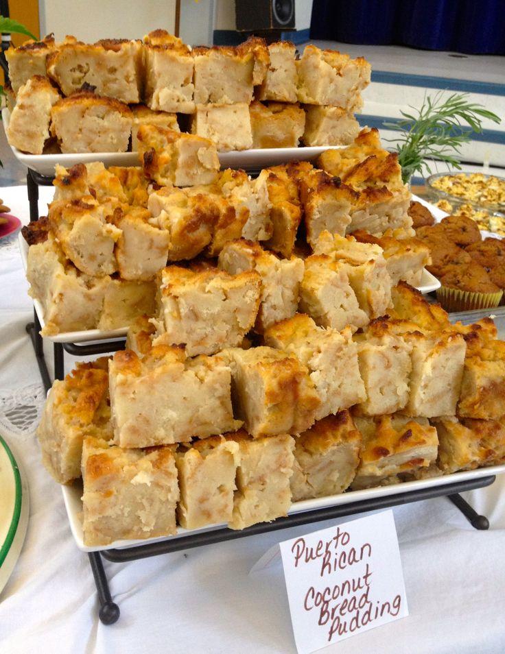 Pudín - Puerto Rican Coconut Bread Pudding