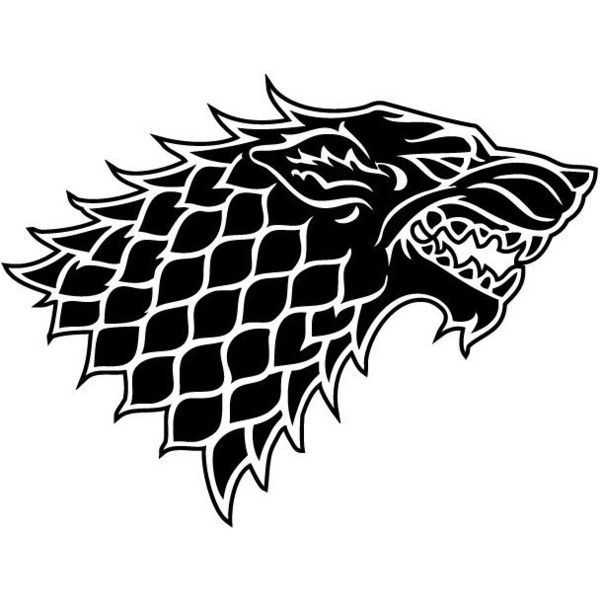 House Stark Sigil Wall Laptop Decal Game Of Thrones 18 Brl Liked On Polyvore Featuring Home Home De House Stark Sigil Stark Sigil Game Of Thrones Sigils