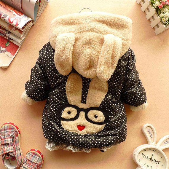 SALE NEW YEAR  CHRISTMASbaby coat girl clothes winter coat kids black jacket baby dress 12m-5y. $22.99, via Etsy.