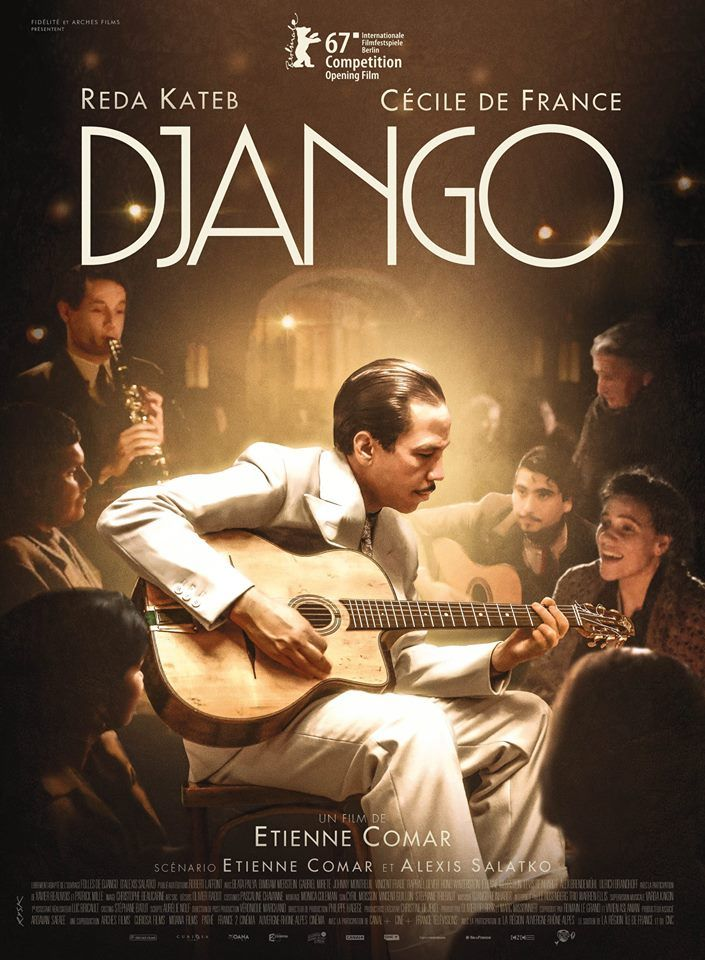 Django by Etienne Comar. Berlinale Opening Film In Competition.  Poster.