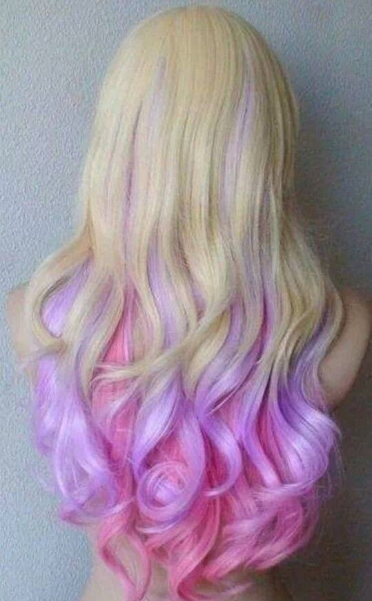 Blonde Extensions With Pink Tips 108