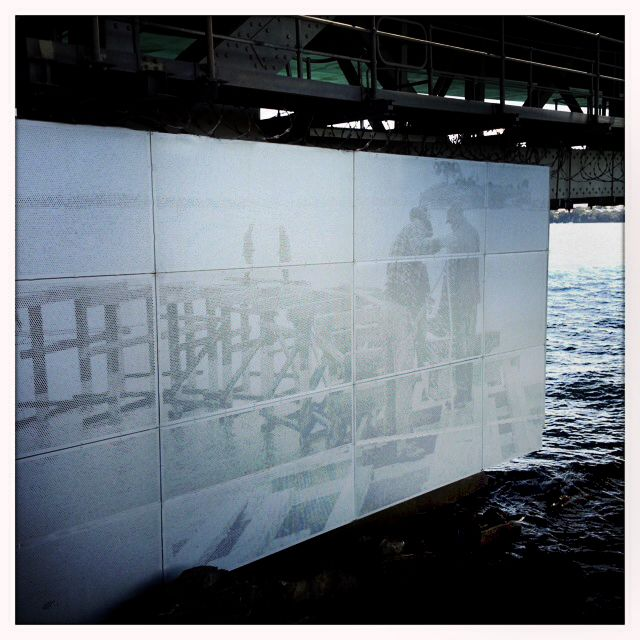 I was out walking the other day when I discovered this photo of people building the Auckland Harbour Bridge's first platform. I so rarely think about how hard those who've come before us have worked, to give us the life we now enjoy. It also made me appreciate that someone thought to put the picture there to remind us. It's so nice when you see that care has been taken when it wasn't completely necessary. Just a couple of the many things to think about when you're out for a walk in Auckland.