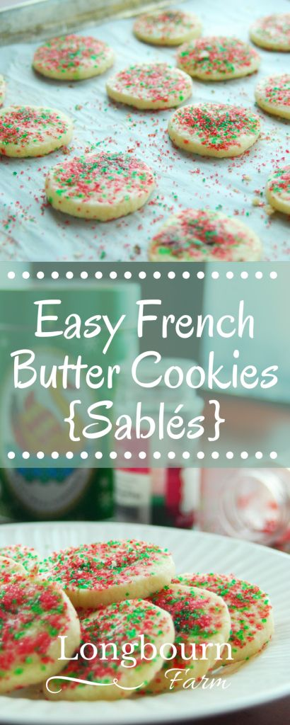 An easy french butter cookies recipe, this holiday classic gives a perfect sablé cookie every time. Buttery, light, and a sandy texture.