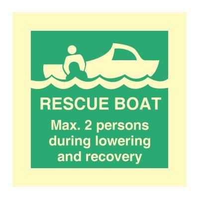Rescue boat - Max 2 persons