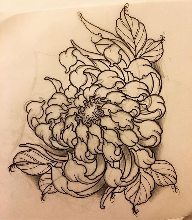 Inspiracao Japanese Flower Tattoo Chrysanthemum Tattoo Tattoos