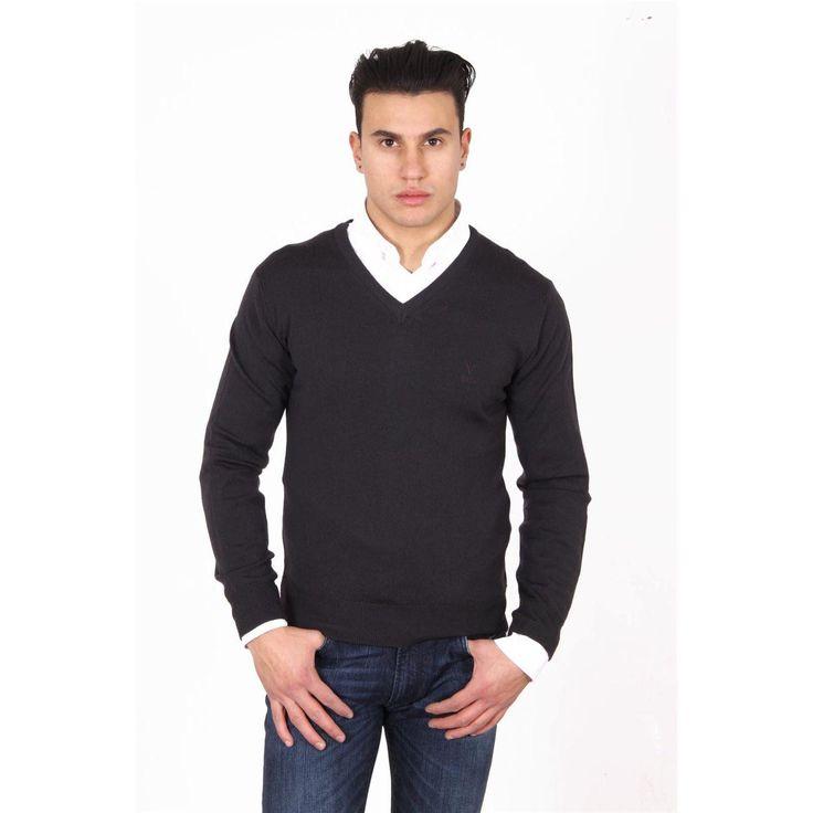 Versace 19.69 Abbigliamento Sportivo Milano mens V neck sweater 9801 SCOLLO V MORO