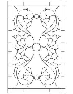 leaded or stained glass pattern// For my bathroom or side door window.
