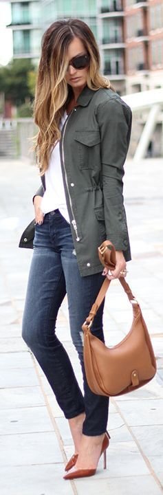 Army Green Parka Fall Inspo by For All Things Lovely